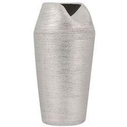 Beliani Dekoracyjny wazon na kwiaty srebrny apamea (4260624117850)