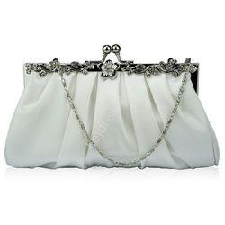 Biała torebka wieczorowa| ślubna torebka, galanteria ślubna Lejdi