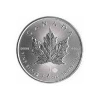 50 x 1 uncja Kanadyjski Srebrny Liść Klonowy - Srebrna Moneta