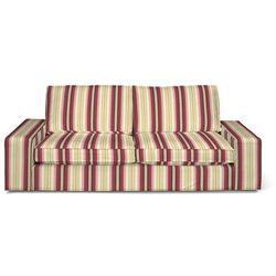 pokrowiec na sofę kivik 3-osobową, rozkładaną, czerwono-bordowe pasy, sofa kivik 3-osobowa rozkładana, mirella marki Dekoria
