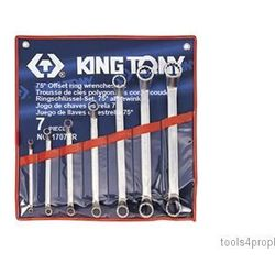 Zestaw kluczy oczkowych odgiętych 75° 7cz. calowe 1/4 - 1.1/8'' 1707sr marki King tony