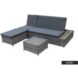 Selsey zestaw mebli ogrodowych jeremias modułowy ze stolikiem szary