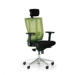 Krzesło biurowe metrim, czarny/zielony marki B2b partner