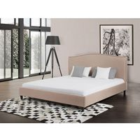 Beliani Łóżko beżowe - 160x200 cm - łóżko tapicerowane - montpellier, kategoria: łóżka