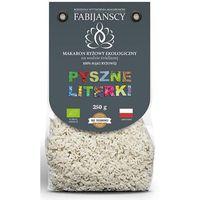 Fabijańscy (makarony) Makaron (z ryżu białego) literki bio 250 g - fabijańscy (5902811250658)