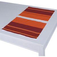 podkładka 2 sztuki, pomarańczowo-bordowy ze złotą nitką, 30x40 cm, taffeta do -30% marki Dekoria