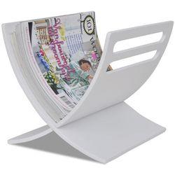 Vidaxl  biały stojak na gazety (8718475885337)