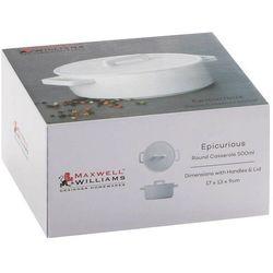- epicurious - okrągłe naczynie do zapiekania z przykryciem, 23,50 cm marki Maxwell & williams
