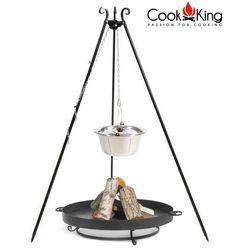 Cook&king Zestaw 3w1 kociołek nierdzewny 10l na trójnogu + palenisko malta 70cm