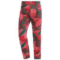 GStar PHARRELL WILLIAMS GSTAR ELWOOD X25 3D Spodnie materiałowe pompeian red/burned red/algreen