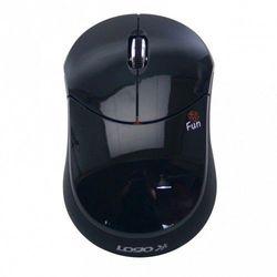 Mysz Logo Fun, 2.4 GHz, optyczna, bezprzewodowa, czarna Darmowy odbiór w 20 miastach! z kategorii Myszy, trackballe i wskaźniki