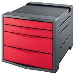 Pojemnik z 4 szufladami ESSELTE Europost VIVIDA czerwony, 623960