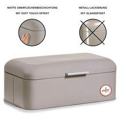 Zeller Metalowy chlebak rubber, pojemnik na pieczywo, 43x23x17 cm