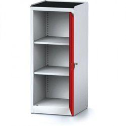 B2b partner Szafa warsztatowa mechanic, 1170 x 490 x 500 mm, 2 półki, czerwone drzwi