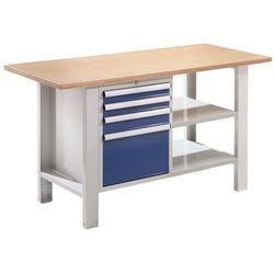 Stół warsztatowy, szer. blatu 1500 mm, blat z multipleksu, 4 szuflady. solidne w marki Quipo