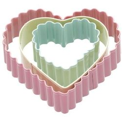 Kitchen craft Foremki do ciastek 3 sztuki hearts -