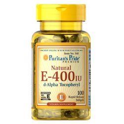 Puritan's Pride Witamina E Naturalna 400IU 100 kaps. - sprawdź w wybranym sklepie