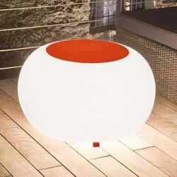 Stół BUBBLE, białe światło i pomarańczowy filc (4260218361843)