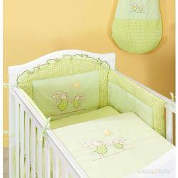 MAMO-TATO pościel 2-el Wesołe zajączki w zieleni do łóżeczka 60x120cm