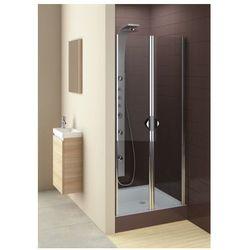 drzwi glass 5 90 wahadłowe, montaż we wnęce lub ze ścianką 103-06357 wyprodukowany przez Aquaform
