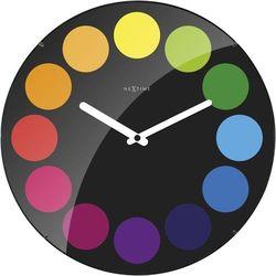 Zegar ścienny Dots Dome black by Nextime, kolor czarny
