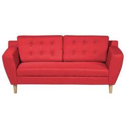 Sofa trzyosobowa tapicerowana czerwona KUOPIO (7105278563431)