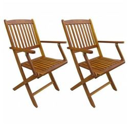 Drewniane krzesła ogrodowe Tony 2 szt, vidaxl_43377