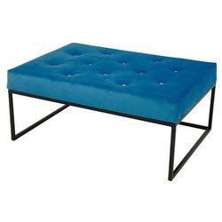 Pufa glamour duża Kardik Niebieska, kolor niebieski