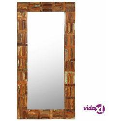 vidaXL Lustro ścienne z ramą z odzyskanego drewna, 60 x 120 cm