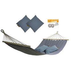 Hamak z drążkiem z poduszkami i zestawem montażowym, Granatowy Zuni+ PZS-312 + H2_2