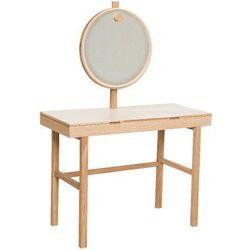 Bloomingville Toaletka z lustrem i otwieranym blatem, biały -