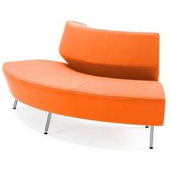 Sofa modułowa skrętna Pomarańczowy 2400 mm, kolor pomarańczowy