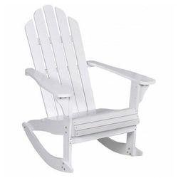 Białe bujane krzesło ogrodowe - Daron