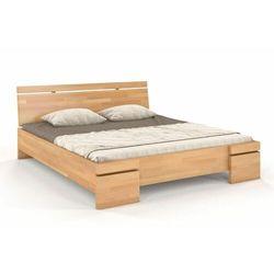 Skandica Łóżko drewniane bukowe ze skrzynią na pościel sparta maxi & st 120-200x200
