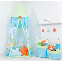 Namiot wiszący z matą Ślimaki w błękicie / zielony