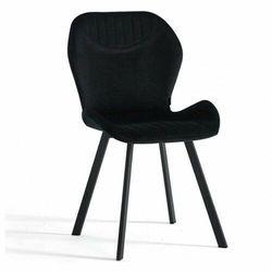 Meblin Krzesło tapicerowane z metalowymi nogami ▪️ dc-6350 ▪️ welur czarny 66