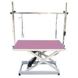 Blovi Stół trenc z podnośnikiem elektrycznym, blat 110cm x 60cm różowy (5902194207362)