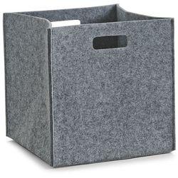 Zeller Kosz do przechowywania, kwadratowy, filcowy - pojemnik 33 l, kolor szary, (4003368143217)