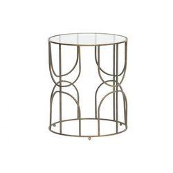 metalowy/szklany stolik kawowy helena antyczny brąz 373234-b marki Woood