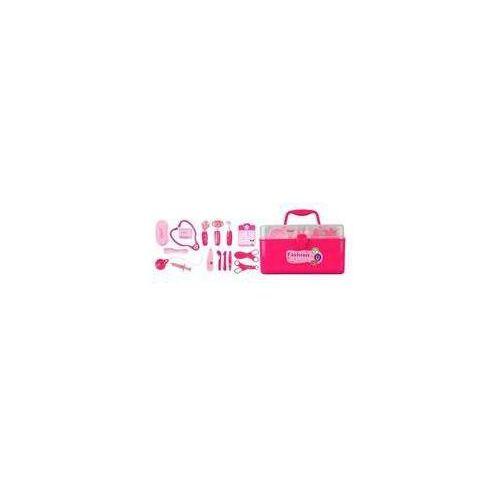 Zestaw lekarski w skrzyni Fashion doctor rózowy - produkt z kategorii- skrzynki i walizki narzędziowe