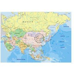 Naklejka Asia - Bardzo szczegółowe edycji mapa polityczna. - oferta [2521407497b5761c]