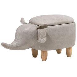 Pufa imitacja skóry jasnoszara ELEPHANT (4260602375968)