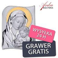 Obrazek srebrny madonna z dzieciątkiem 12 * 17 cm marki Valenti & co