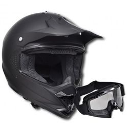 Kask do motocross (M) , bez szybki + gogle ze sklepu VidaXL