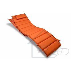 2 poduszki na leżak pomarańczowe 11 segmentów