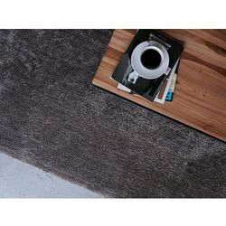 Dywan ciemnoszary 140 x 200 cm Shaggy DEMRE (7105272615105)