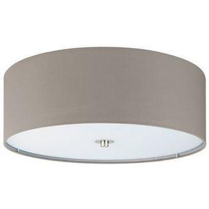 Eglo Plafon lampa sufitowa pasteri 94919 okrągła oprawa abażurowa szarobrązowa (9002759949198)