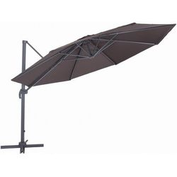 MAKERS parasol ogrodowy Roma, boczny 2,7 m, brązowy (8594173120990)