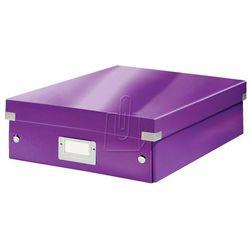 Pudło Click & Store z przegródkami średnie fioletowe 6058