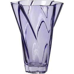 Wazon hübsch 18 cm fioletowy szklany